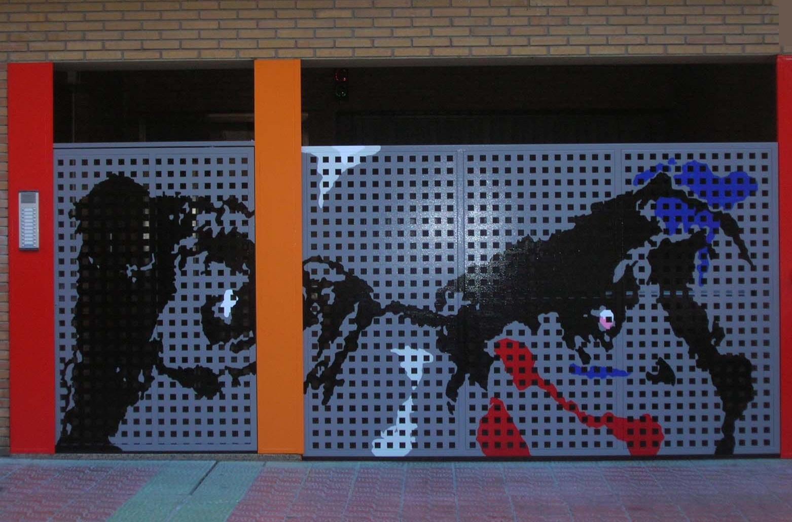 Puerta acceso garage